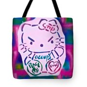 Occupy Kitty Tote Bag