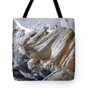 Ocean Driftwood Landscape Art Prints Coastal Views Tote Bag by Baslee Troutman