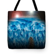 Ocean Falling Into Abyss Tote Bag