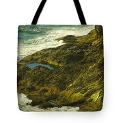 Ocean Pounded Rock  Tote Bag