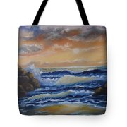 Ocean Study In Blue Tote Bag