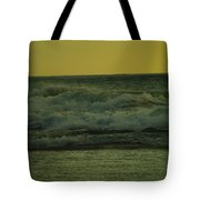 Ocean Waves Coming In Near Sunset Tote Bag