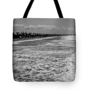Oceanside In Black And White Tote Bag