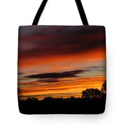 October's Colorful Sunrise Tote Bag