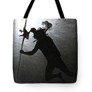 Octopus And Diver Tote Bag