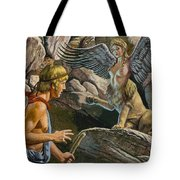 Oedipus Encountering The Sphinx Tote Bag