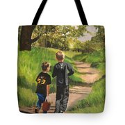 Off To The Sand Pit Tote Bag