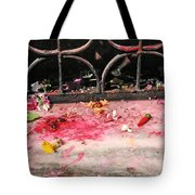 Offering Of Floweres Tote Bag