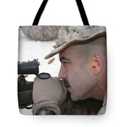 Officer Sights In On The Target Tote Bag