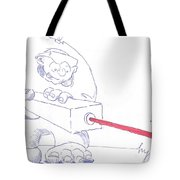 Ogre With Laser Cartoon Tote Bag