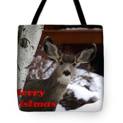 Oh Deer Merry Christmas Tote Bag