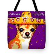 Party Chihuahua Tote Bag