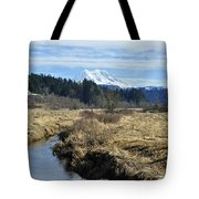 Ohop Valley View Of Rainier Tote Bag