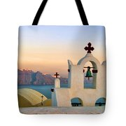 Oia In Santorini Tote Bag