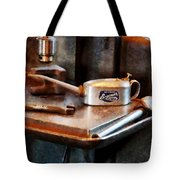 Oil Can And Wrench Tote Bag
