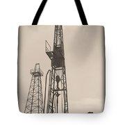 Oil Derrick V Tote Bag