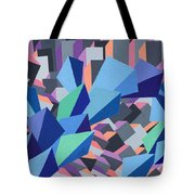 Blue Barge Through The Purple City Tote Bag