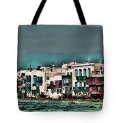 Oill Paint Effect Mykonos Greece Tote Bag