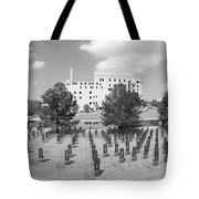 Oklahoma City National Memorial Black And White Tote Bag