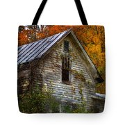 Old Abandoned House In Fall Tote Bag