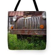Old Abandoned Pickup Truck Tote Bag