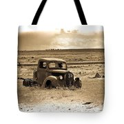 Old Abanoded Truck Fade Tote Bag