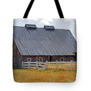 Old Barn And Fence Tote Bag