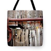 Old Barn Door Detail Tote Bag