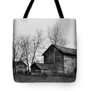 Old Barn In Monochrome Tote Bag