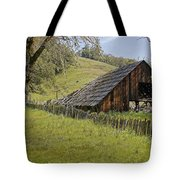 Old Barn On Highway 20 Tote Bag