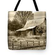 Old Barn Sepia Tint Tote Bag