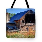 Old Barn With Concrete Grain Silo - Utah Tote Bag