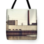 Old Bergstom Smokestack Tote Bag