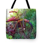 Old Bike And Weeds Tote Bag
