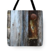 Old Blue Door 1 Tote Bag