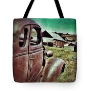 Old Car And Ghost Town Tote Bag