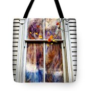 Old Carpenter Gothic Style Church Window In Wv Fall Tote Bag