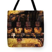 Old Cat In The Woods Tote Bag