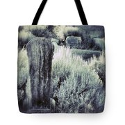 Old Cemetery On A Hill Tote Bag