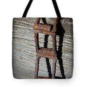 Old Chain And Barn Wood Tote Bag