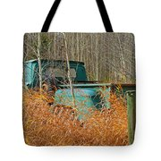 Old Chevy In The Field Tote Bag