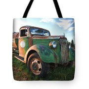 Old Chevy Tanker Truck Tote Bag