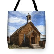 Old Church At Bodie Tote Bag