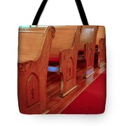 Old Church Pews Tote Bag by LeeAnn McLaneGoetz McLaneGoetzStudioLLCcom