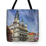 Old City Hall Clock Tower - Posnan Poland Tote Bag