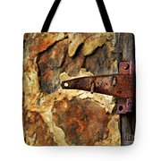 Old Door Hinge Tote Bag