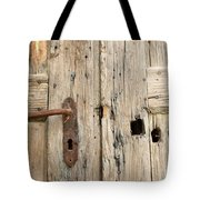 Old Door In Sebastia Tote Bag