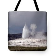 Old Faithful Letting Off Some Steam Tote Bag