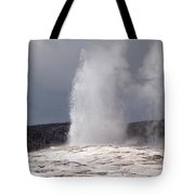 Old Faithful On A Cloudy Day Tote Bag