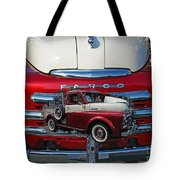 Old Fargo Pick Up Truck Tote Bag